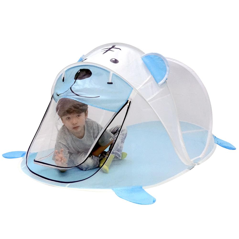 비앤씨 어린이용 모기장 팝업 원터치 텐트, 혼합색상