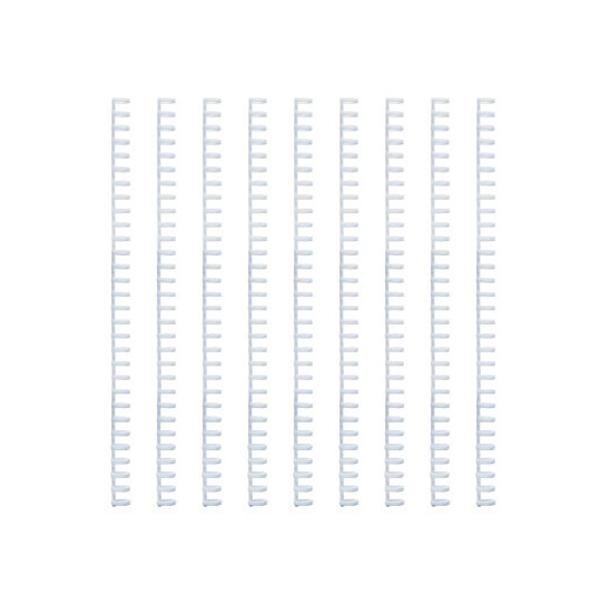 칼 루즈링 제본와이어링 9p, 12mm, 화이트