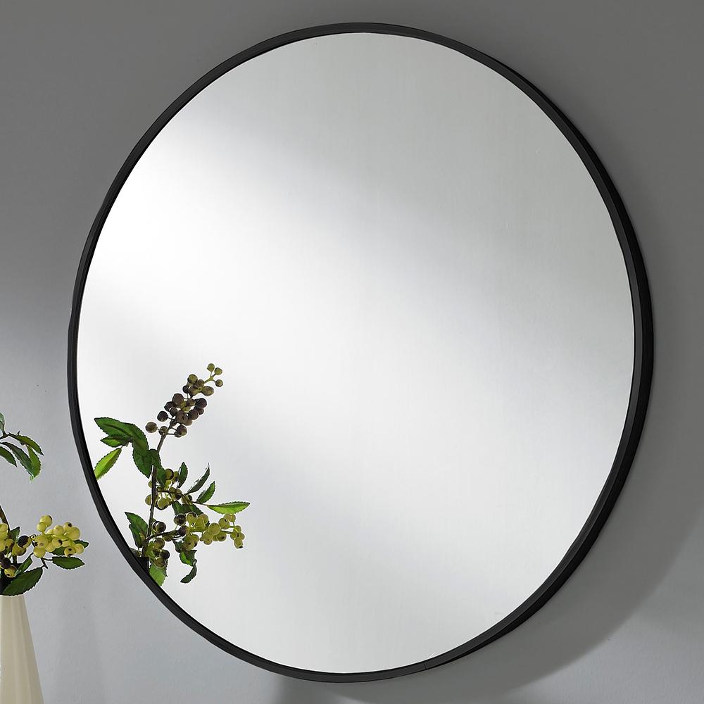 미소아이 유로 알미늄 욕실 화장대겸용 벽거울, 매트블랙