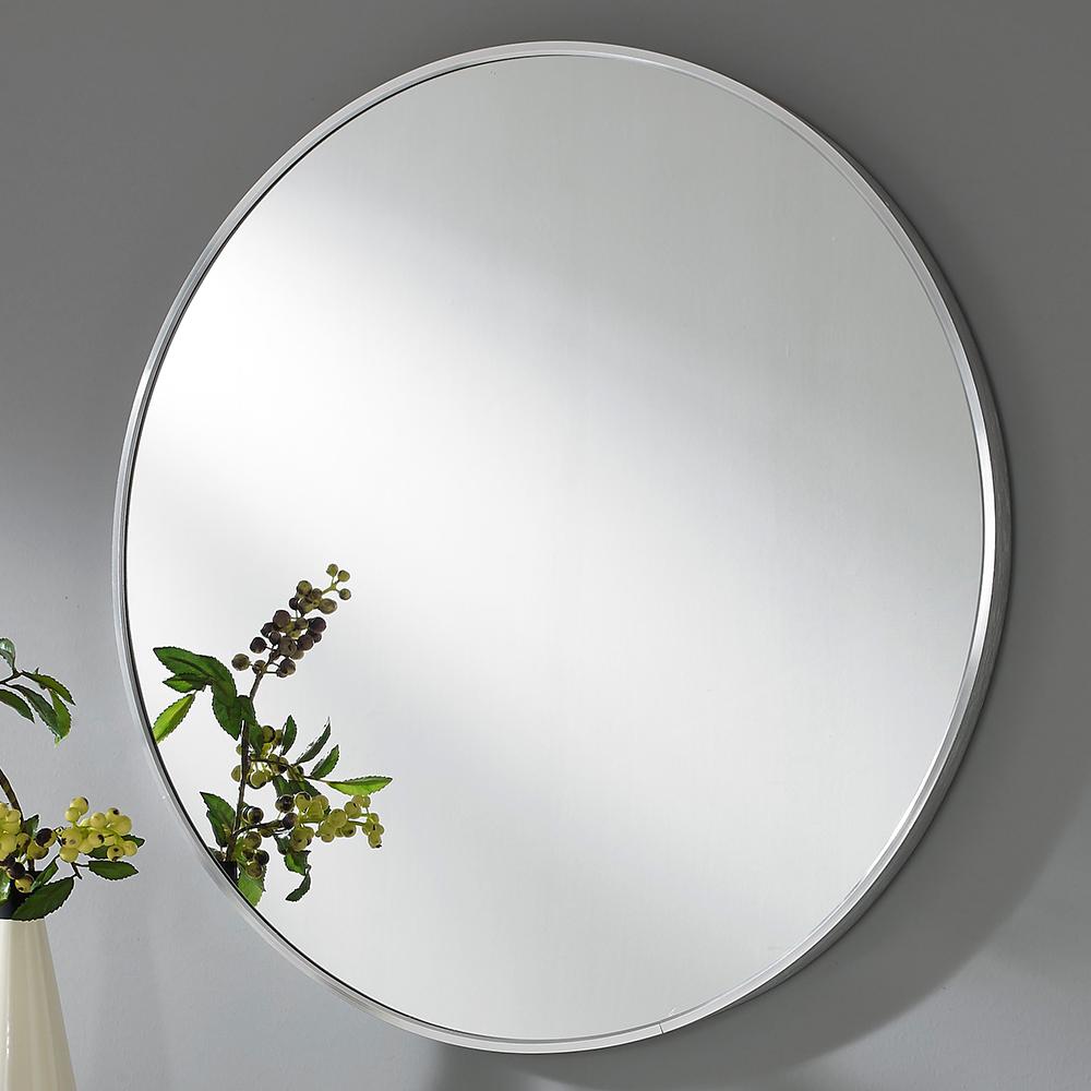 미소아이 유로 알미늄 욕실 화장대겸용 벽거울, 로얄실버