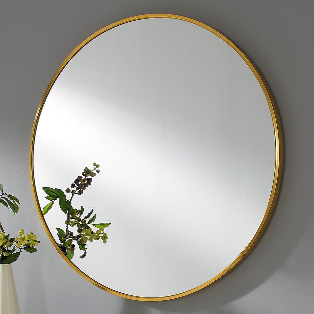 미소아이 유로 알미늄 욕실 화장대겸용 벽거울, 모카골드