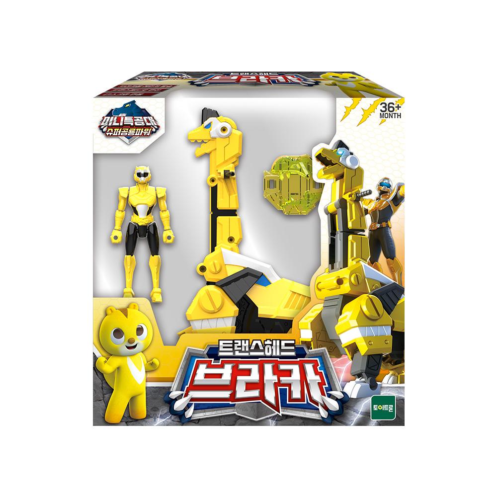 미니특공대 슈퍼공룡파워 브라카 로봇 장난감, 혼합색상