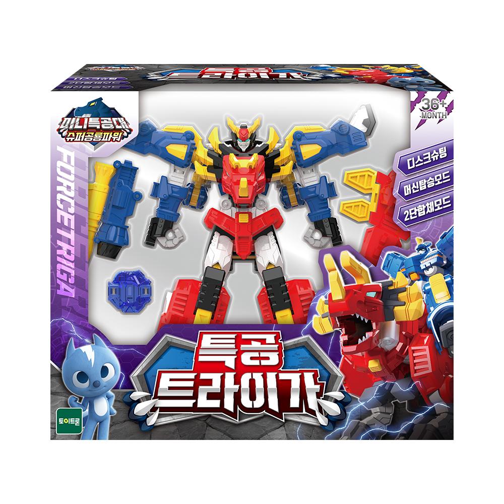 미니특공대 슈퍼공룡파워 특공 트라이가 로봇장난감, 혼합색상
