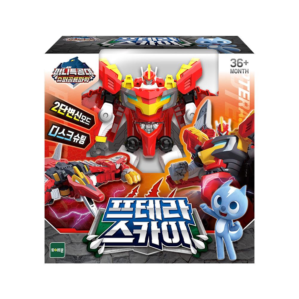 미니특공대 슈퍼공룡파워 프테라 스카이 로봇 장난감, 혼합색상