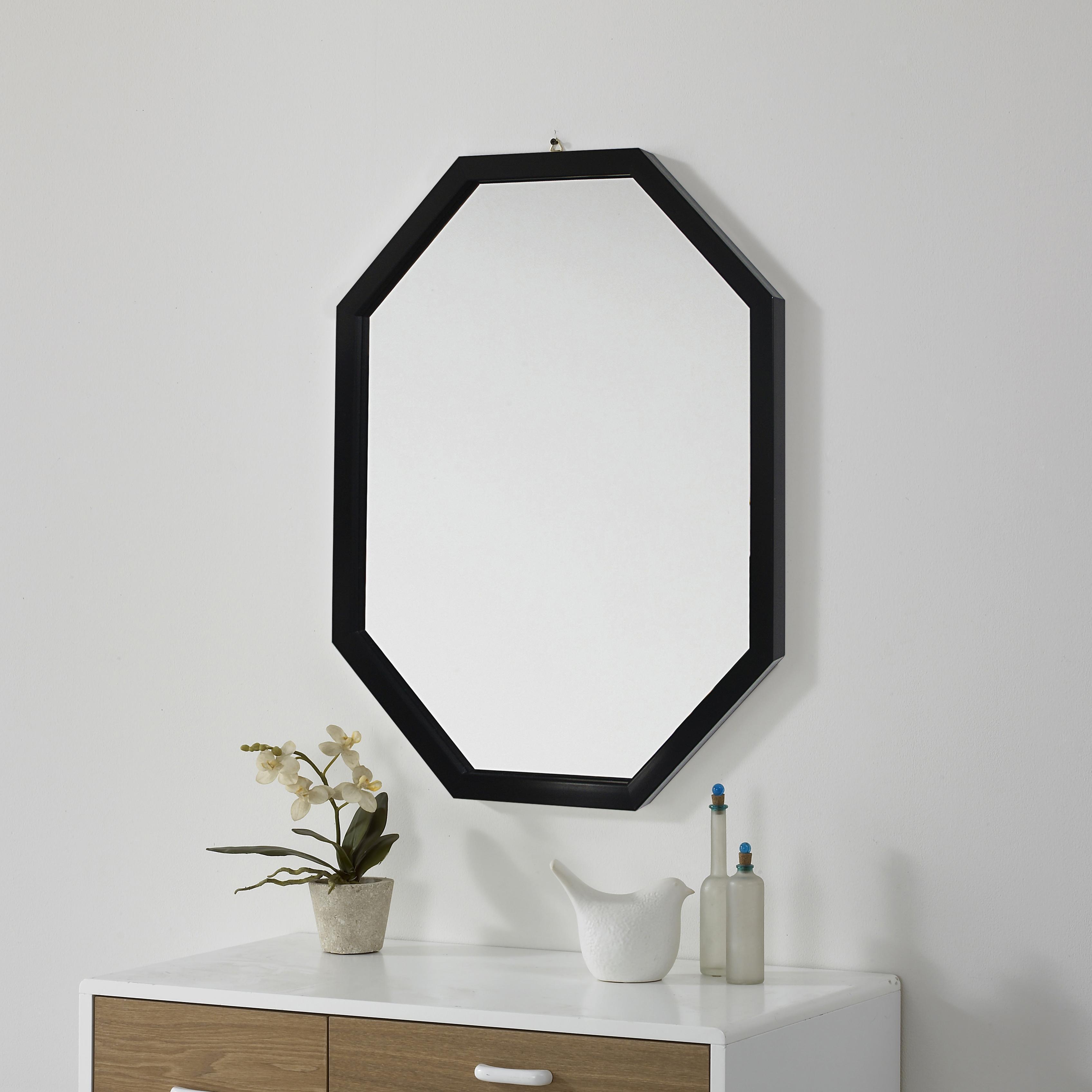 미소아이 모던팔각 벽거울, 블랙