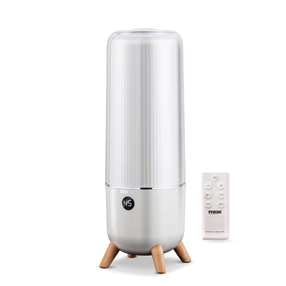 모즈 우드 스탠드 UV LED 살균 대용량 가습기 아이보리, DMH-600R