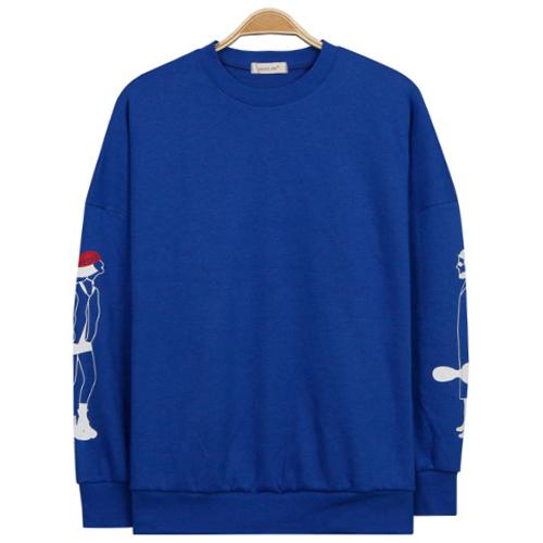 마틸다 소매 오버핏 맨투맨 티셔츠
