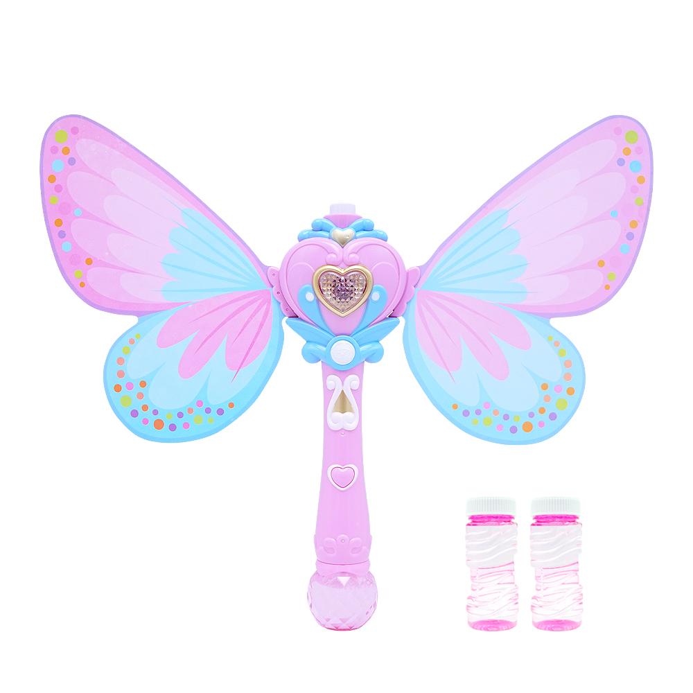비앤씨 나비 비누방울 봉 + 버블용액 100ml x 2p, 혼합색상