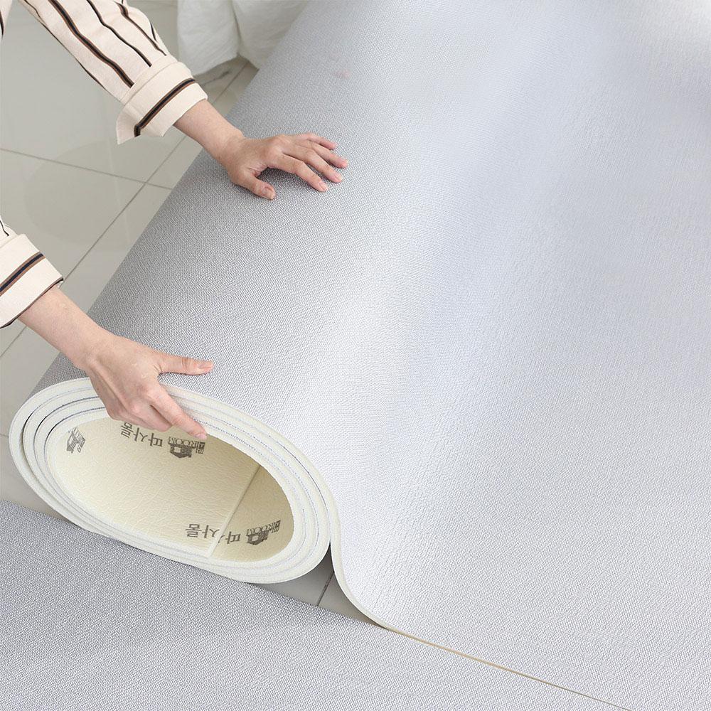 따사룸 PVC 롤 유아 놀이방 매트, 그레이캔버스