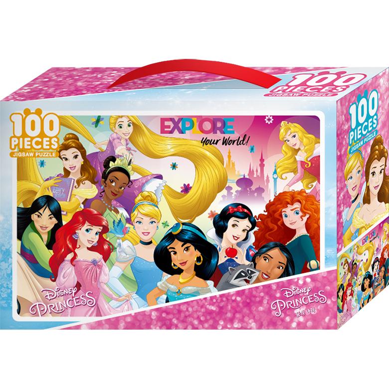디즈니 프린세스 꿈의 나라 큰조각퍼즐 TPK100-011, 100피스, 혼합색상