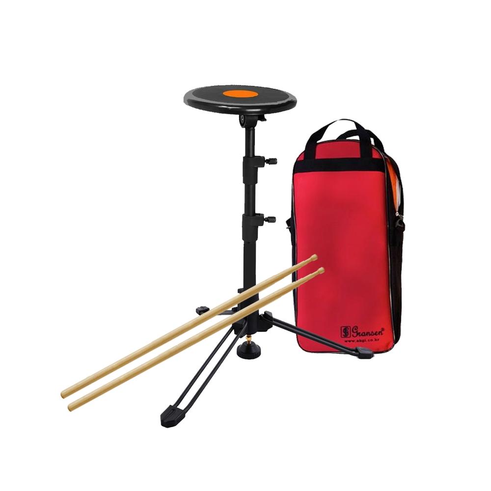 그란센 일체형 드럼 연습 패드 세트, 블랙, 1세트