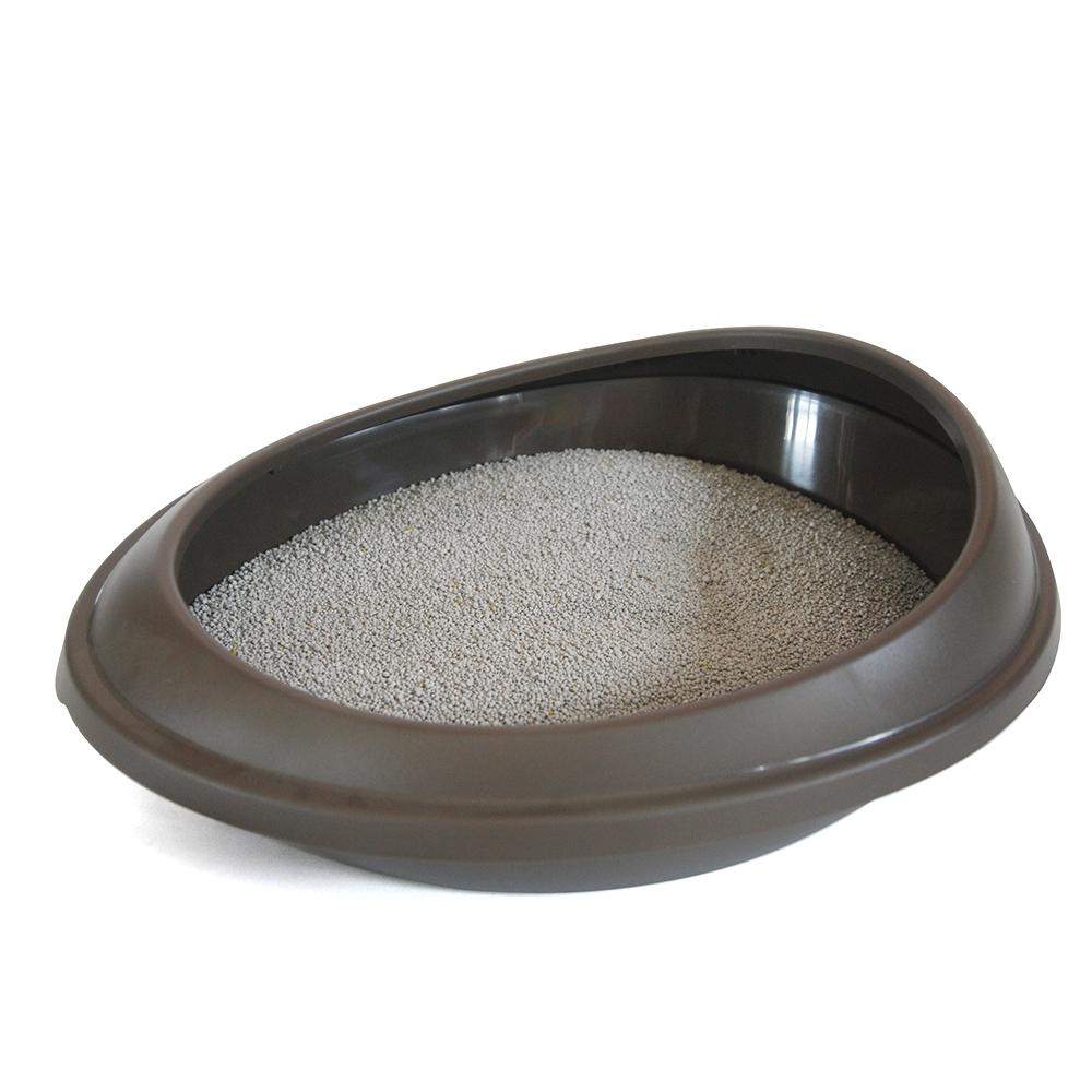 푸르미 고양이 평판 화장실 + 모래삽, 브라운