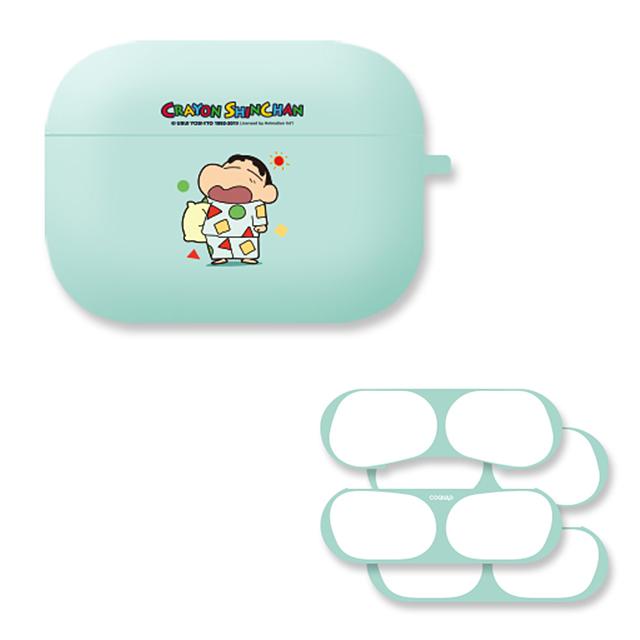 짱구 에어팟 프로 케이스 + 철가루 방지 스티커 2p, 꿈나라 짱구