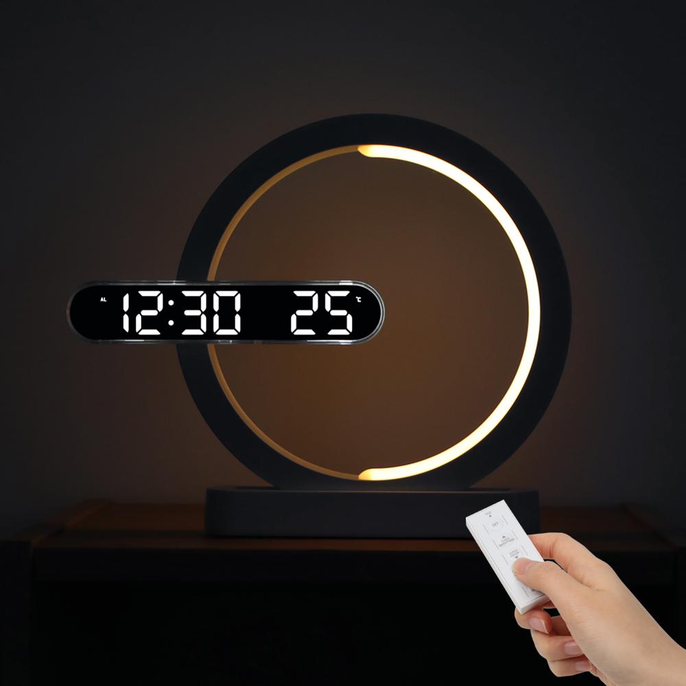 무아스 문라이트 무드등 듀얼 LED 시계 7색상, 혼합색상