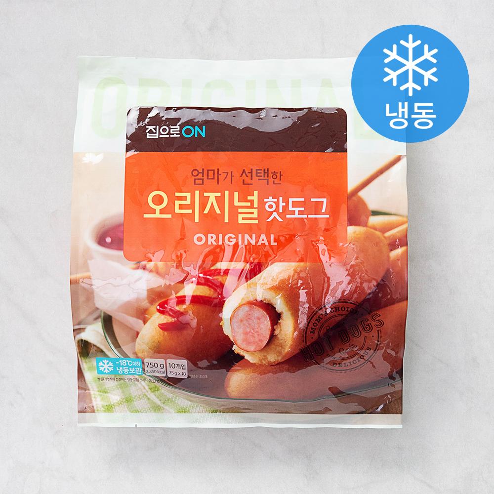 집으로ON 오리지널 핫도그 (냉동), 75g, 10개입