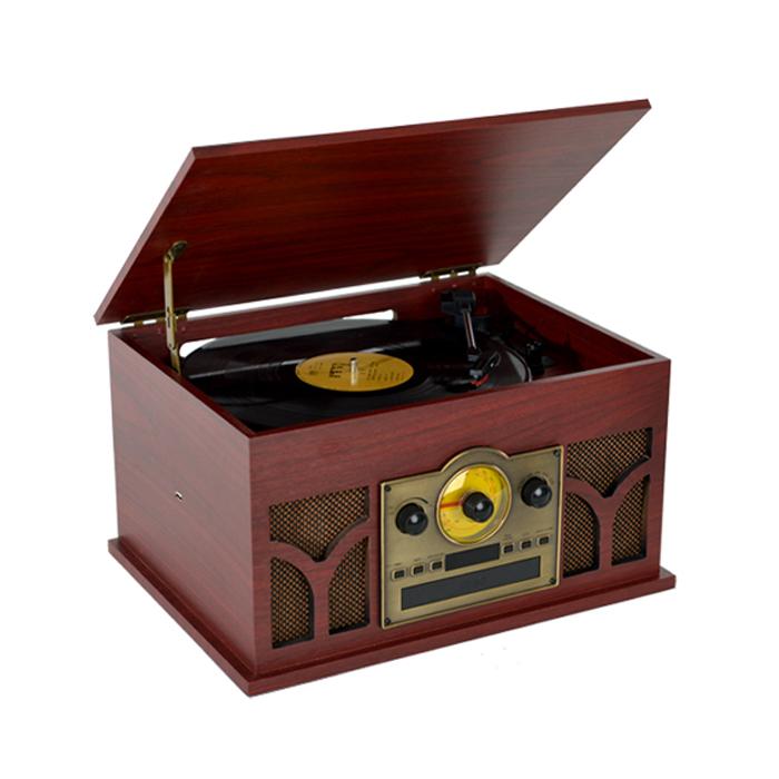 로우락 AUX USB LP CD 라디오 턴테이블 멀티 플레이어, RLP-08