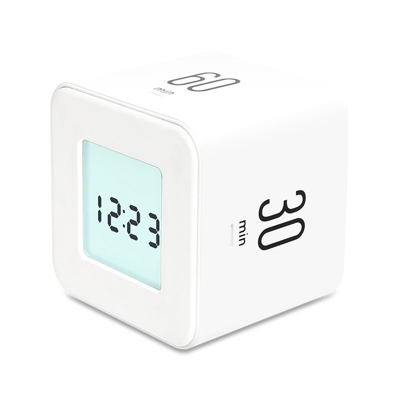 무아스 멀티 큐브 타이머 시계, 화이트, 1개