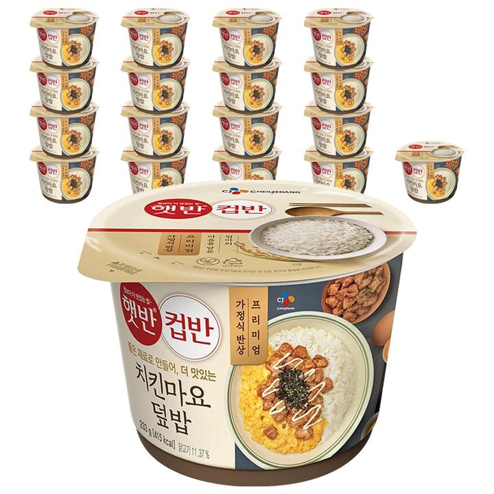 햇반 컵반 치킨마요 덮밥, 233g, 18개