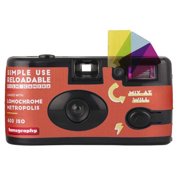 로모그래피 로모크롬 메트로폴리스 심플유즈 다회용카메라 27컷 ISO100-400, 1개