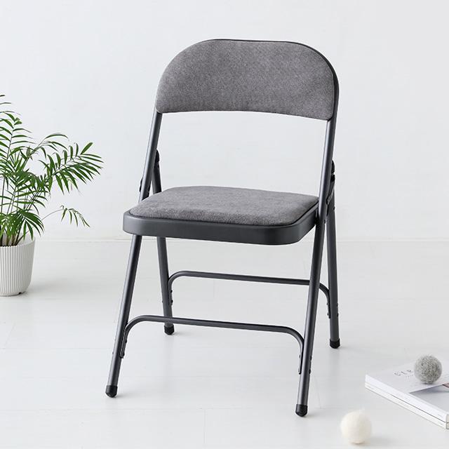 마켓비 ZIANY 접이식 의자 DT92, 라이트그레이
