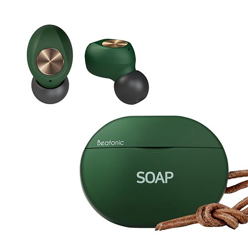 앱코 BEATONIC SOAP 블루투스 이어폰, 그린