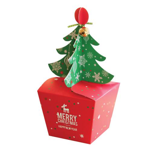 인디고샵 크리스마스 메리트리 포장상자 중 + 타이, 혼합색상, 9세트