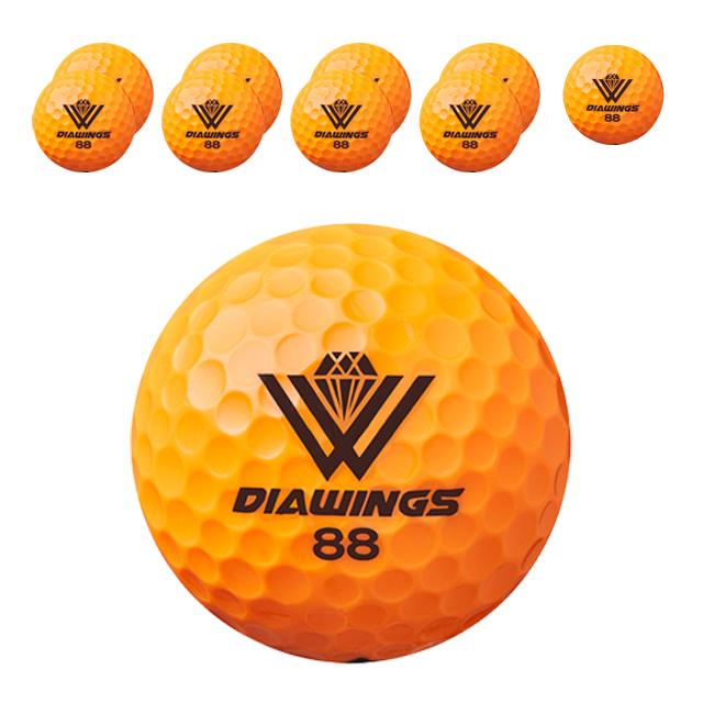 다이아윙스 고반발 비거리 전용 장타 골프공 2피스 42.7mm M5, 오렌지, 10개