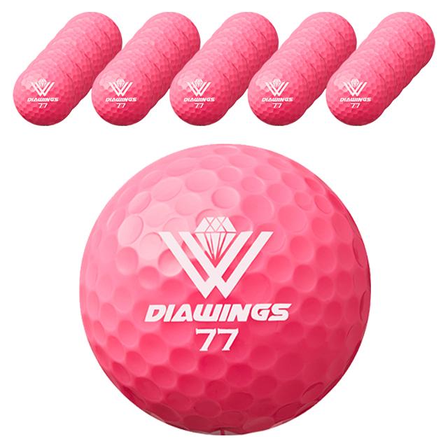 다이아윙스 고반발 비거리 전용 장타 골프공 2피스 42.8mm M2, 핑크, 50개