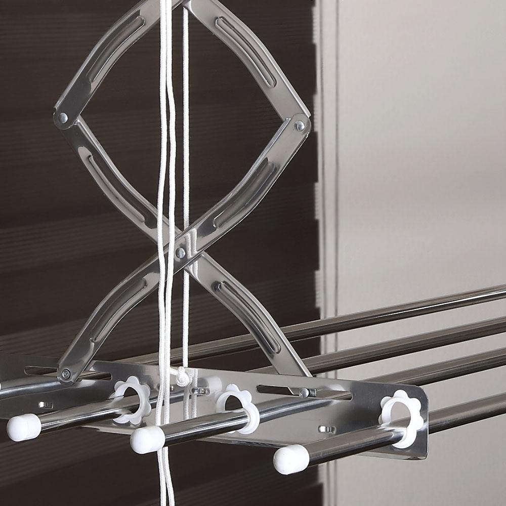 엠디글로벌 올 스테인레스 베란다 천장 빨래건조대 3단 1030~1900mm, 1개
