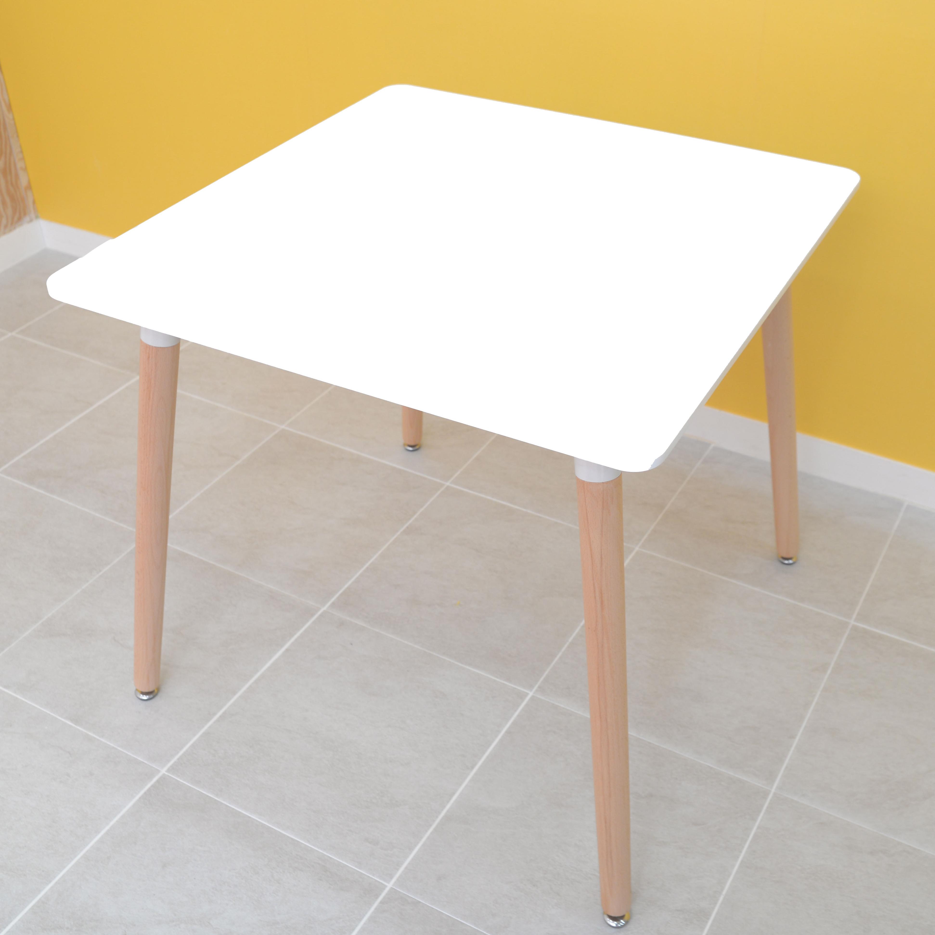 글래스테이블 카페 식탁 800, 화이트