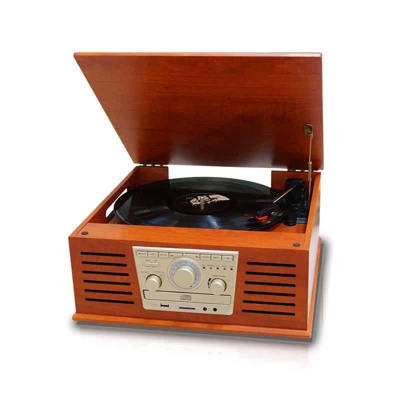 휴라이즈 턴테이블 블루투스 오디오 스피커 CD 플레이어, HR-TS100, 혼합색상