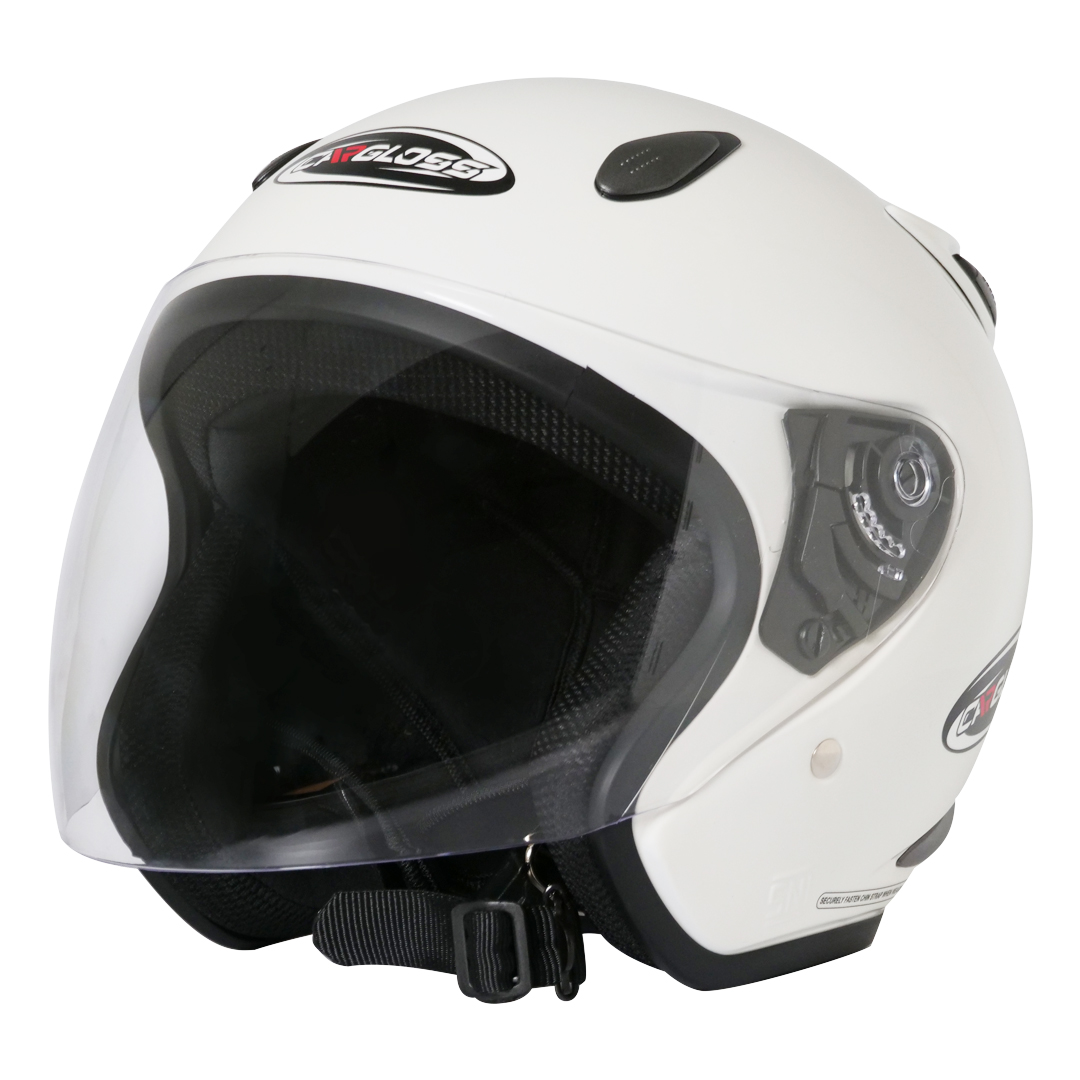 쿤타치 오토바이 헬멧, 화이트