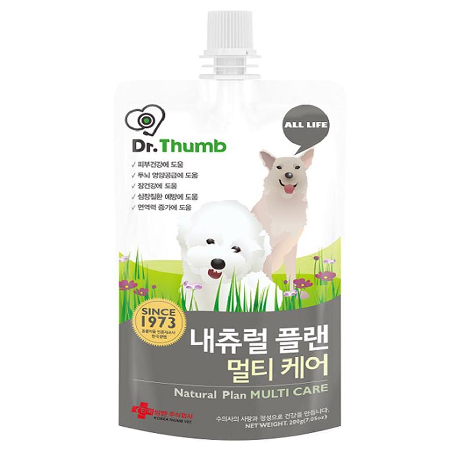 닥터썸 강아지용 내츄럴 플랜 멀티 케어 종합 영양제 200g, 멀티케어, 1개