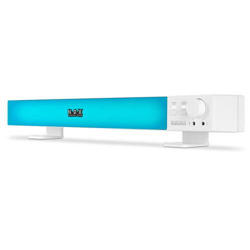 녹스게이밍기어 바스타X 가상 7.1채널 RGB PC 사운드바, IX-SB, 화이트