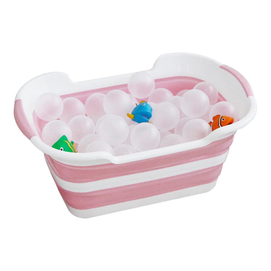 펫토리아 반려동물 접이식 욕조, 핑크, 1개
