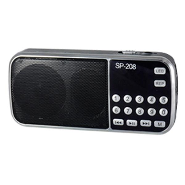 텐교 효도 라디오 스피커, SP-208, 블랙