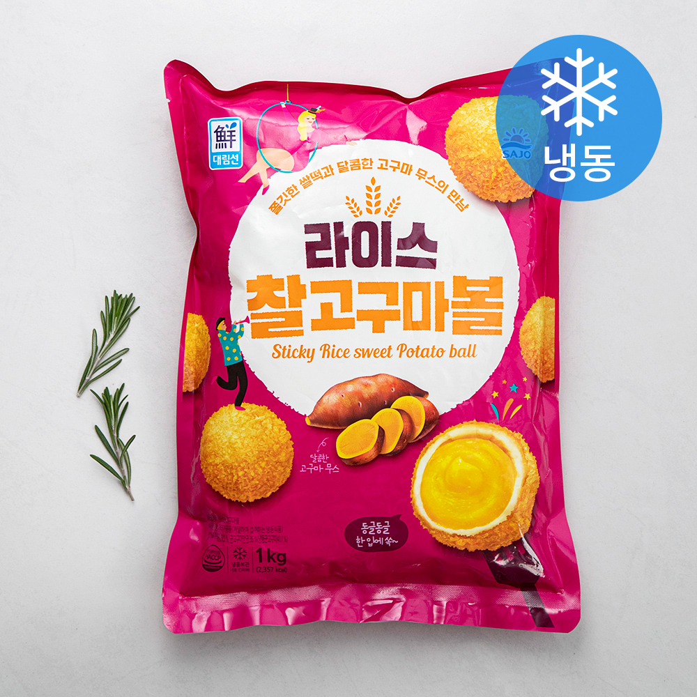 사조 라이스 찰고구마볼 (냉동), 1kg, 1개