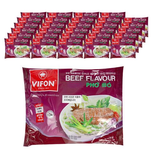 비폰 포보 베트남 쌀국수 즉석라면 소고기맛, 60g, 30개
