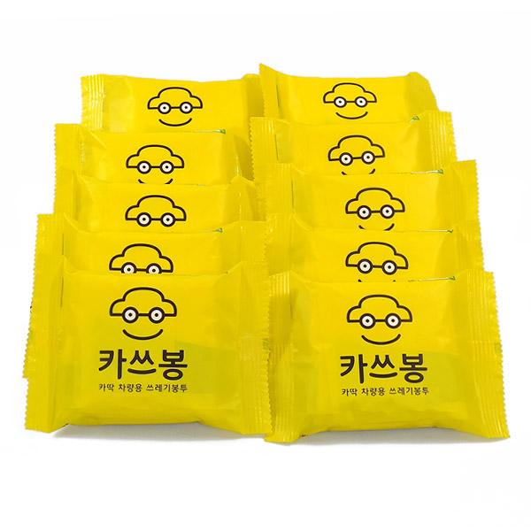 차딱 카쓰봉 차량용 쓰레기봉투 3p, 10개