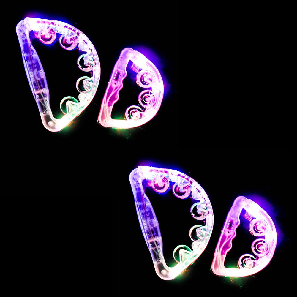 파티쇼 노래방 LED 탬버린 15cm x 2p + 22cm x 2p, 랜덤발송, 1세트