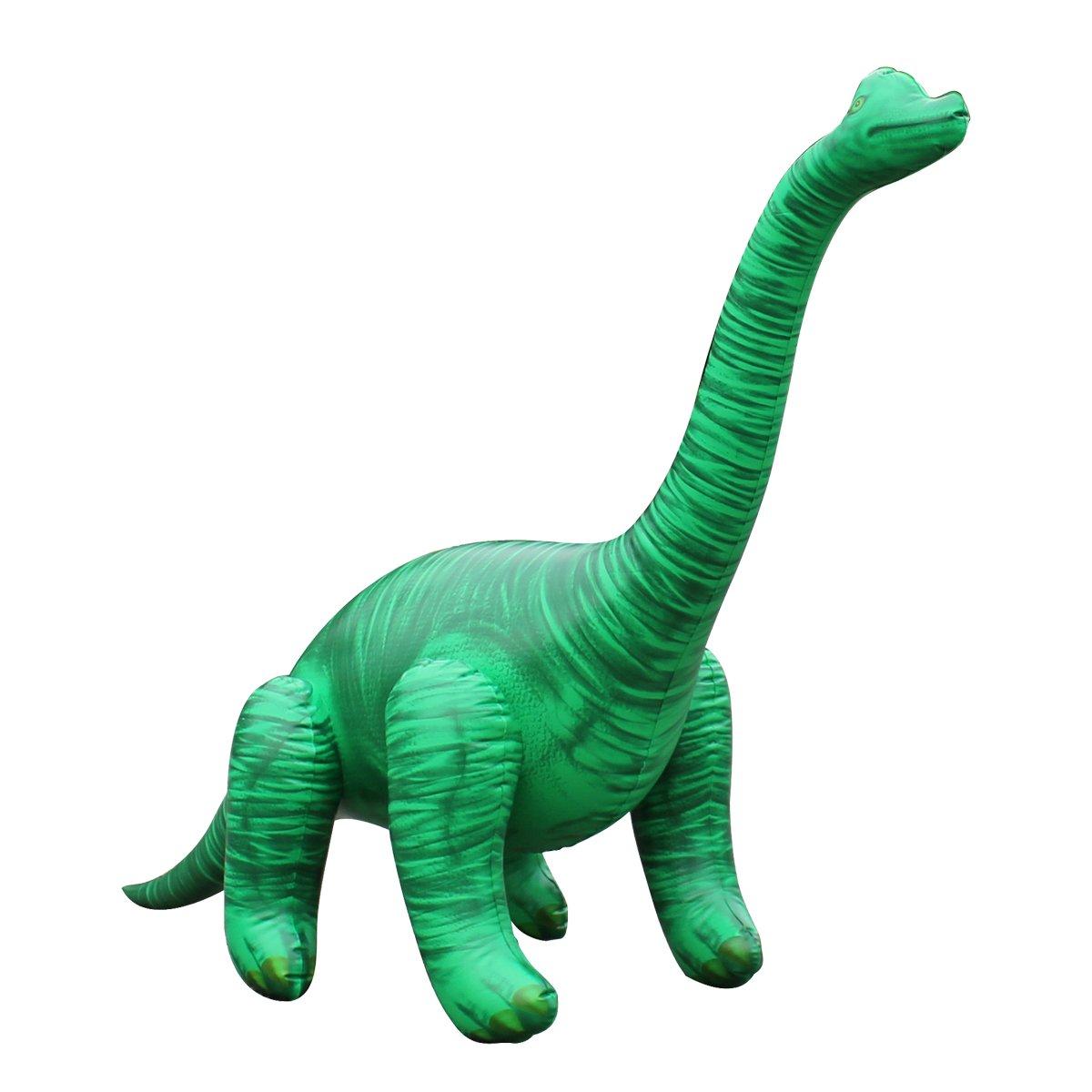 공룡기 브라키오사우루스 튜브 공룡 풍선 대형 122cm, 그린, 1개