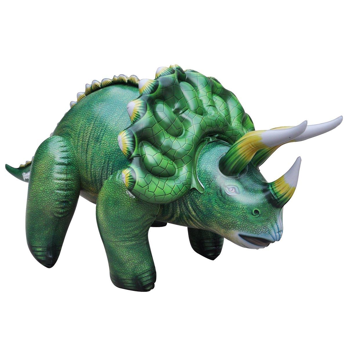 공룡기 트리케라톱스 튜브 공룡 풍선 대형 109cm, 그린, 1개