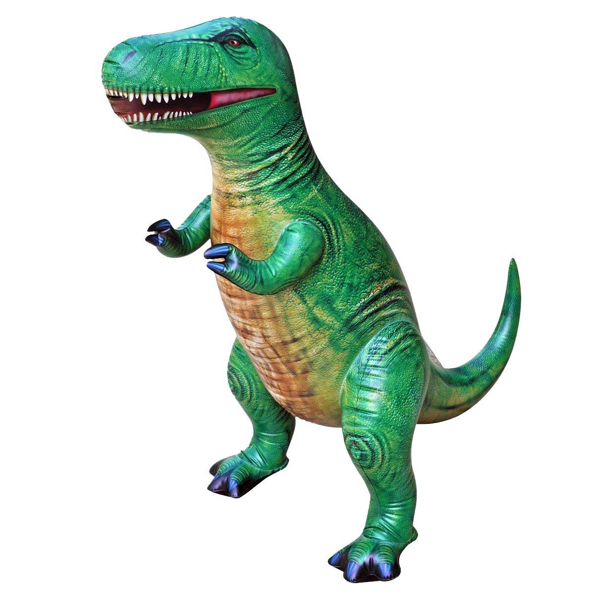 공룡기 티라노사우루스 튜브 공룡 풍선 대형 94cm, 그린, 1개