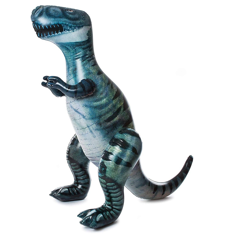 공룡기 자이언트 티라노사우루스 튜브 풍선 대형, 청록, 1개