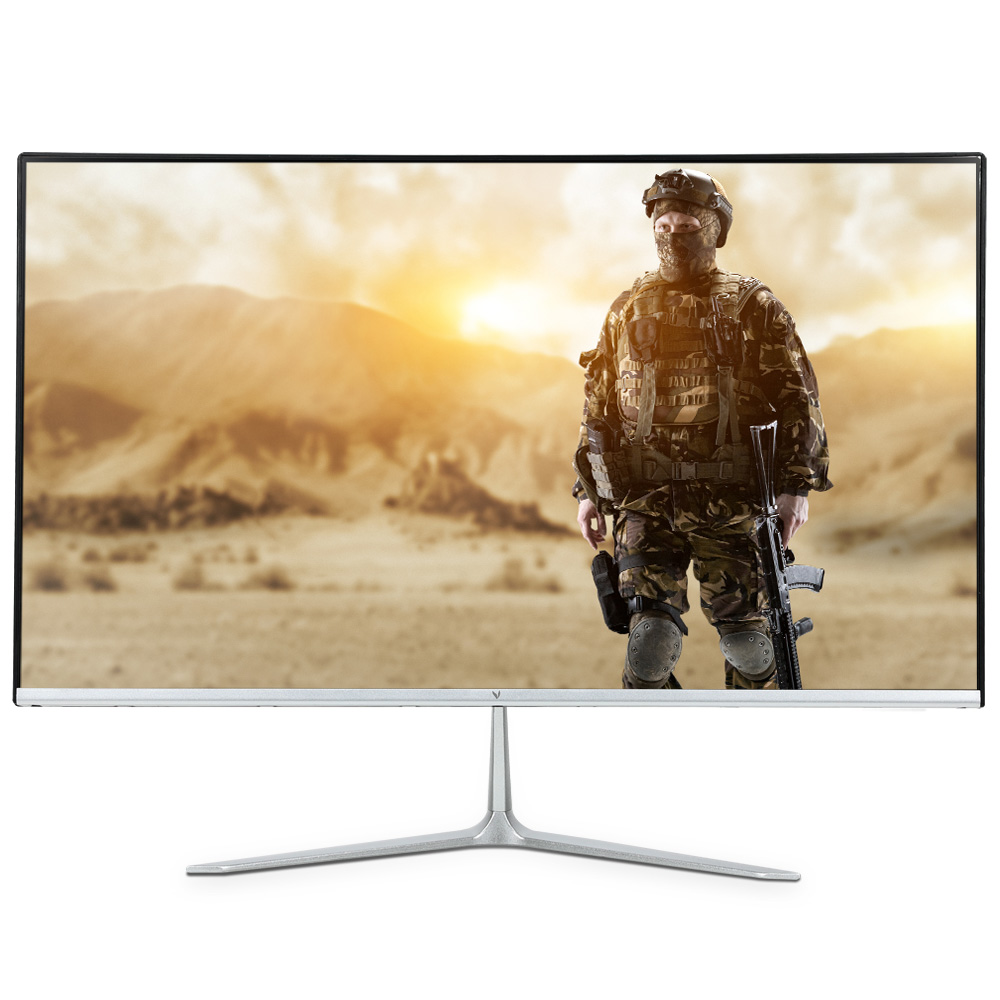 엠텍코리아 60.96cm FHD ViewSys 베젤리스 평면 모니터, F2405 HDR