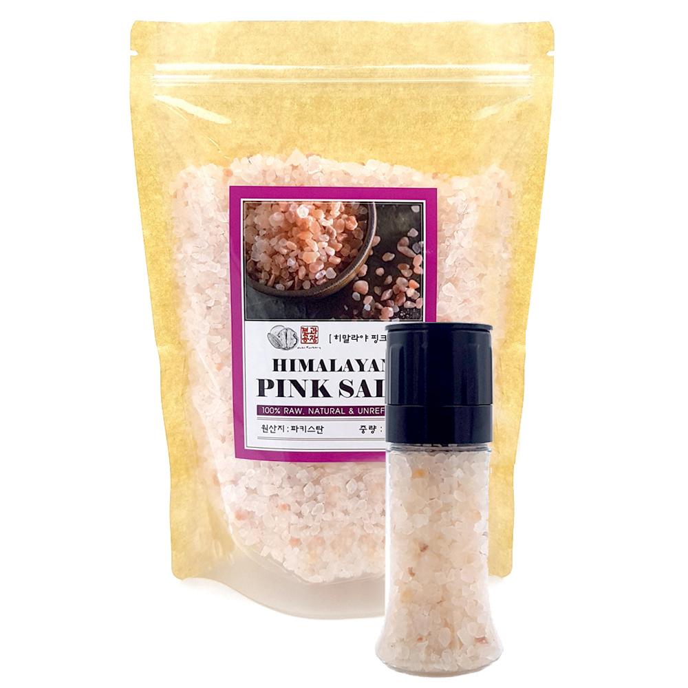 히말라야 핑크소금 granules 1kg + 그라인더, 1세트