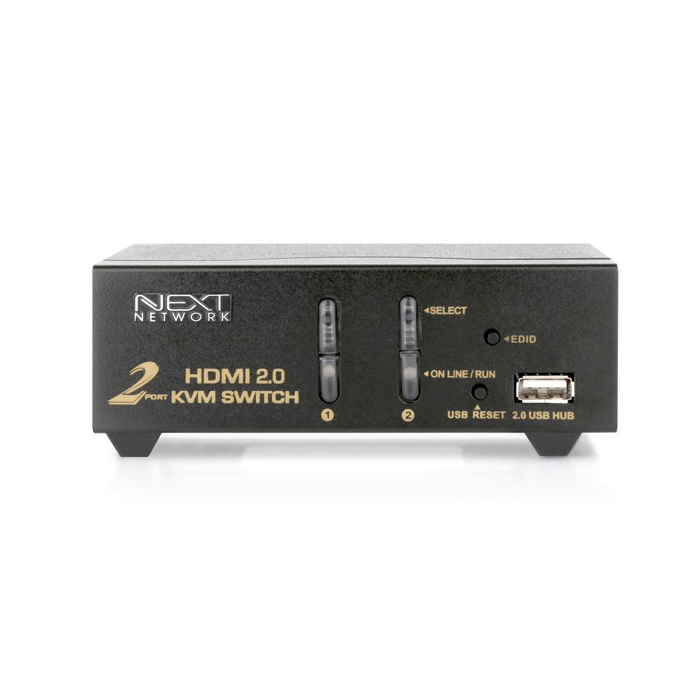 넥스트 2대1 USB HDMI2.0 KVM 스위치, NEXT-7002KVM-4K