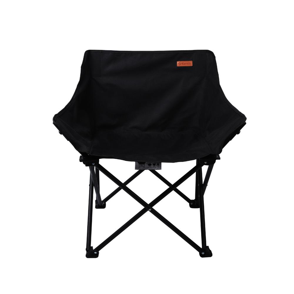 카르닉 초경량 폴딩 캠핑 의자, 블랙, 1개