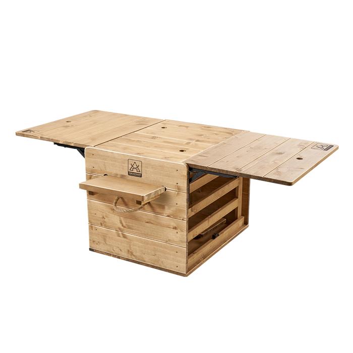 카즈미 네이처 박스형 우드 캠핑 테이블