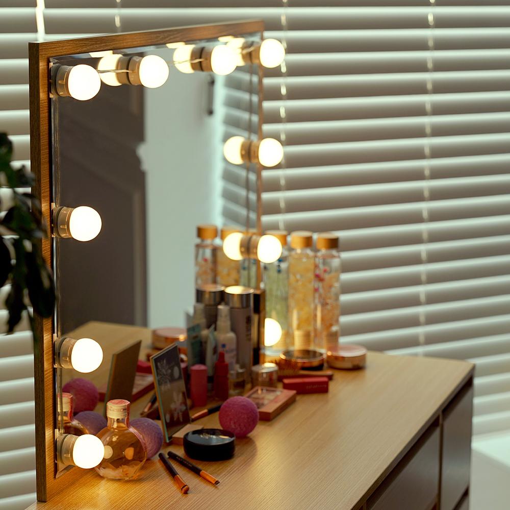 데이홈 LED 로맨틱 DIY 거울조명 뷰티 온 미러라이트, 웜화이트, 1세트